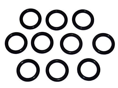 "Captain O-Ring - Power Pressure Washer O-Rings for 3/8"" Quick Coupler, High Temperature Viton FKM (10 Pack) [1/2"" o-Rings to fit 3/8"" QC Fittings]"