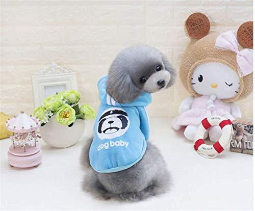 Unbekannt ML Hundekleidung Kleiner Hund Katze Kleidung Blau - Zwei Füße, XL