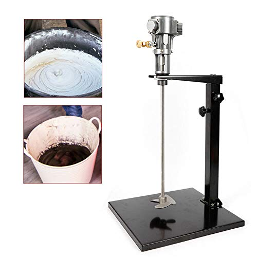 Pneumatic Paint Mixer Drill Attachment 5 Gallon with Stand and the Mixing Propellers Stainless Steel Mix Tool for Paint Factory Tank Barrel Not Included Tank