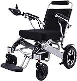 GYPPG Pieghevole leggero pieghevole portatile Elettrico sedia a rotelle a Doppio motore compatto ausilio per la mobilità sedia a rotelle, Pesa Solo 59 libbre con batteria - Supporta 286 libbre