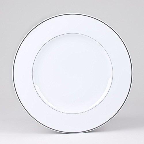 Table Passion - Plat 32 cm filet gris