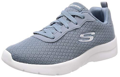 Skechers - Scarpa Sportiva in Tessuto Azzurro con Memory Foam