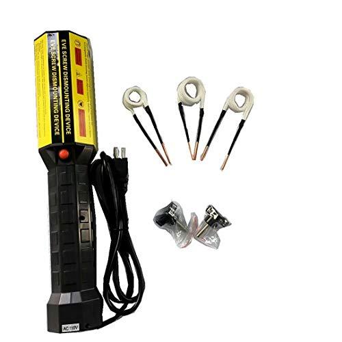 NISHIPANGZI Calentador de inducción magnética, Calentador de inducción electromagnético de Mano Calentador de inducción sin Llama de Mini Ductor de 1000 W con 3 bobinas