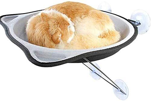 Leilims Cat Perch, kat raam bed hangmat raam gemonteerd Cat Perch Sunny Seat, katten Sunny stoelen voor kleine indoor katten tot 33 lb met zuignappen, grijs