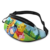 Zsrgvdrf Winnie the Pooh Casual waist bag for Women and Men Hip Bum Bag Suitable for Outdoors Workout Traveling Casual Running
