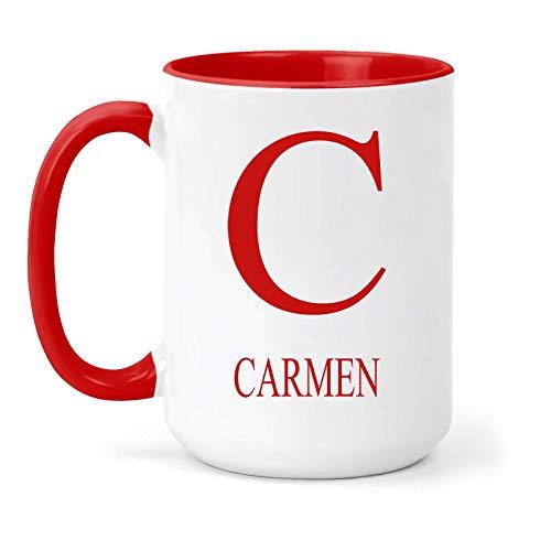 Carmen - Taza, diseño con texto en inglés