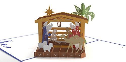 Lovepop Nativity Classic Pop Up Card - 3D Cards, Christmas Cards, Holiday Pop Up Cards, 3D Christmas Cards, Merry Christmas Cards, Religious Christmas Cards