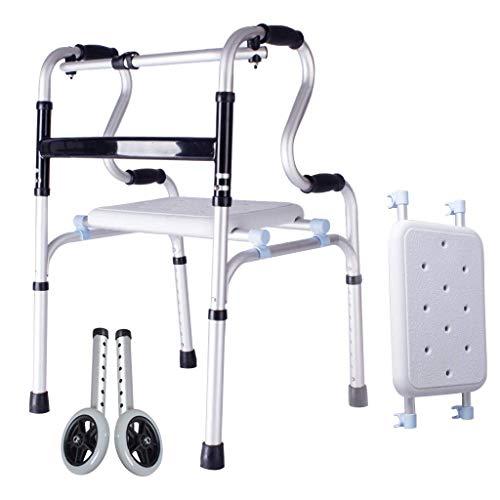 OUG Caminante Plegable de Alta Resistencia para obesidad con 2 Ruedas, Estructura Liviana para Caminar, ayudas para discapacitados, Apto para Personas discapacitadas, Personal de rehabilitació