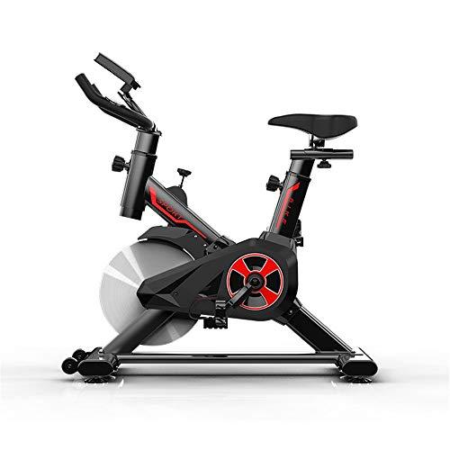 Yingm Bicicleta de Spinning Fitness Indoor Ciclismo Indoor Cinturón de Bicicletas Driven Fijo Ejercicio de la exhibición de la Bici con LED Sigue Moviendote (Color : Black, Size : 85x45x102cm)