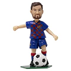 ⚽ Officially licensed product of FC Barcelona ⚽ Dynamic action movement and ready to kick the ball. ⚽ Great gift for any FC Barcelona Messi soccer fan. ⚽ Comes with a detachable stand to display your collection for all of your friends!