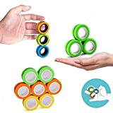 RITONS 12 PCS Finger Magnetic Ring, Magnet Toy, Magnetic Fingertip Toys, Decompression Magnetic Magic Ring, Magnetic Game, Magnetic Bracelet, Durable Unzip Toys