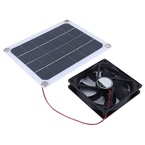 Nimomo Ventilador de Escape Solar Ventilador de Escape de Panel Solar portátil de 10W para Uso de Carga de Coche de habitación de Mascotas al Aire Libre DC5V