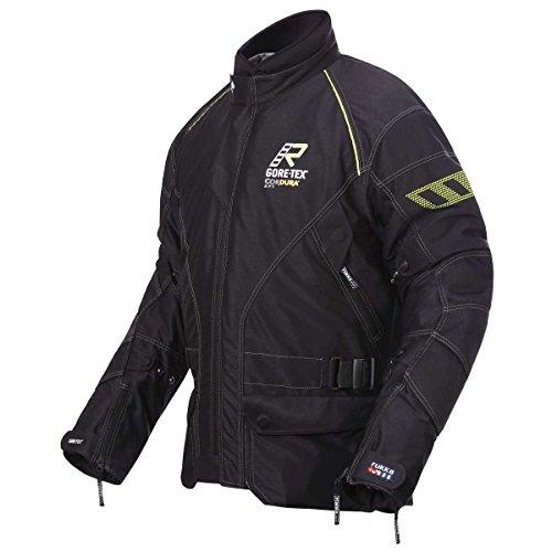 Rukka Airman Motorradjacke GTX, Farbe schwarz-Neongelb, Größe 50