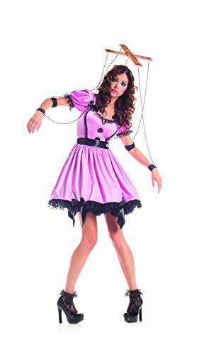 PartyKing Damen Marionette Kostüm Kleid Set - Pink - X-Large