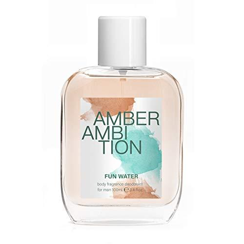 Fun Water - Amber Ambition Lot de 2 déodorants pour homme, 100 ml