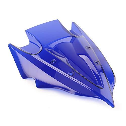 ACYY Parabrisas de motocicleta, parabrisas de motocicleta, doble burbuja, ajuste para Kawasaki Ninja 300 250 2013-2016 plástico parabrisas de motocicleta (color: azul)