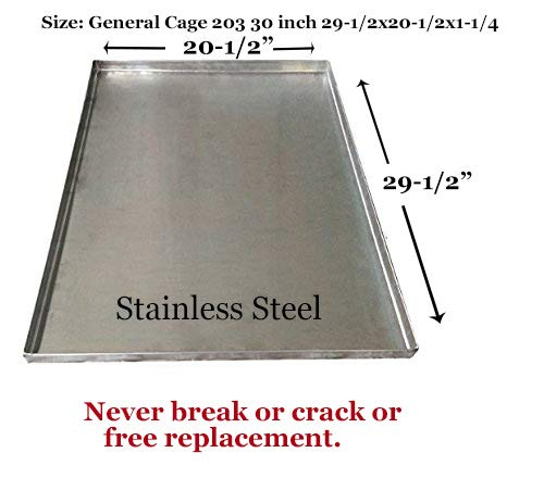 Metal Replacement Tray for Dog Crate - Heavy Duty - Chewproof - Kennel Replacement Pan - Chew Proof & Crack Proof Pet Kennel Tray - Replacement Pan for Midwest Central Metal Crates – Dog Cage Tray