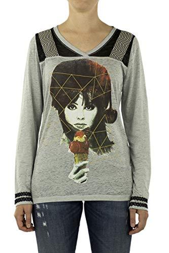 Custo Barcelona Ice Girl - Camiseta de béisbol gris/multicolor 40