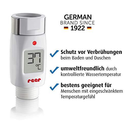 Reer 70613 Digitales Bade- und Duschthermometer mit optischem und akustischem Alarm