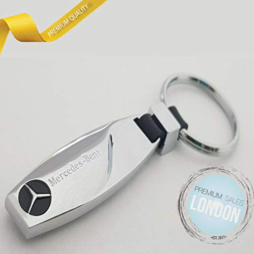 PSL Schlüsselanhänger mit Auto-Logo, Tropfenform, Metall, kompatibel mit Mercedes Benz