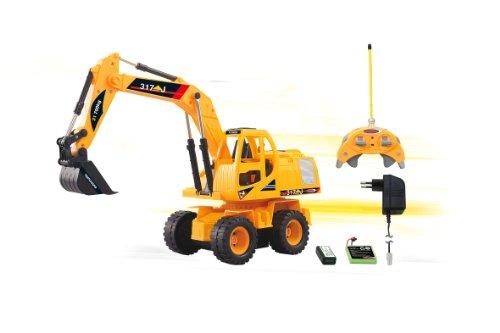 RC Auto kaufen Baufahrzeug Bild 2: Jamara 403790 - RC Bagger 317J 1:24 3 Kanal inklusive Fernsteuerung*