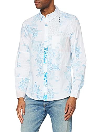 Desigual CAM_ALBERICO Camiseta, Blanco, XXL para Hombre
