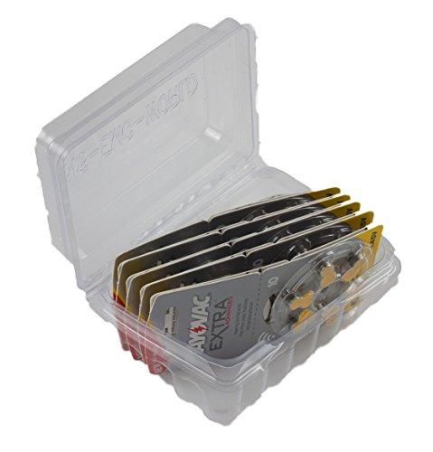 Rayovac Extra Advanced Zink Luft Hörgerätebatterie, 10er Pack, mit 60 Batterien, Geeignet für Hörgeräte Hörhilfen Hörverstärker, Gelb