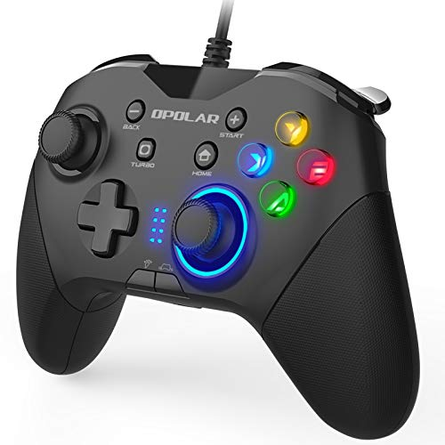 Wired Gaming Controller, Programmable PC Gamepad Joystick with Dual Vibration, Remap M1-M4 Triggers, Game Console for Windows 7/8/10/XP/Laptop, PS3, Switch, Android, TV Box