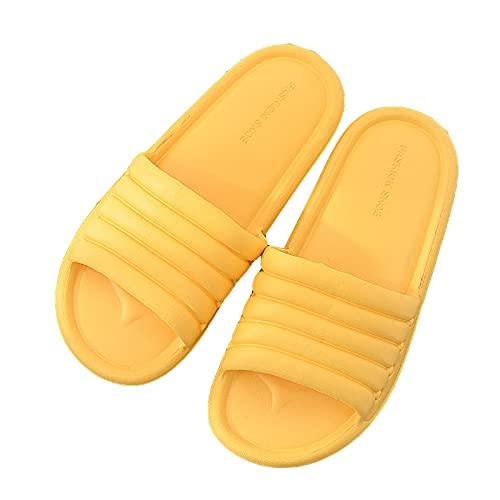 HUAJI Zapatillas Antideslizantes Mujeres Y Hombres Uso Interior Sandalia Baño Al Aire Libre Suela Espuma Suave Zapatos Piscina Casa Tobogán para El Hogar,#6,36/37