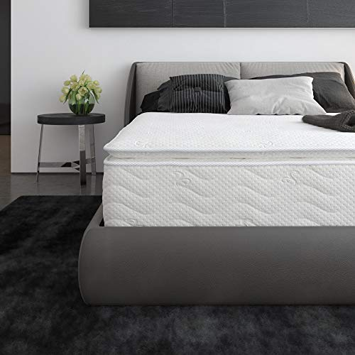 Signature Sleep 6147459 Contour Hybrid 12' Independently Encased Coil Memory Foam Mattress, Queen, White
