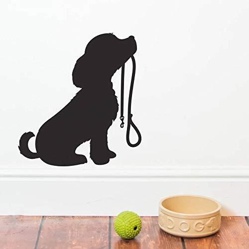 Tianpengyuanshuai Netter Hund Silhouette Wandtattoo Welpen Wandaufkleber Tierhandlung Dekoration 46X42cm