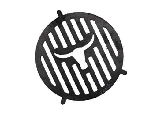 A. Weyck Tools Grill Einsatz Stier Ø 20cm für Feuerplatte mit Halterung BBQ Grillrost Plancha 07