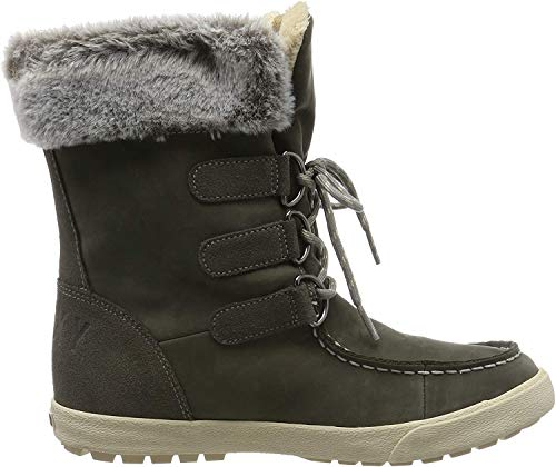 Roxy Damen Rainier - Snow Boots for Women Schneestiefel, Grau (Charcoal Chr), 38 EU