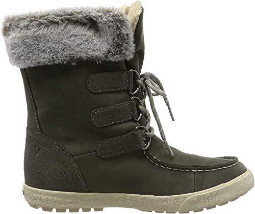 Roxy (ROY11) Rainier-Snow Boots for Women, Botas de Nieve para Mujer, Charcoal Chr, 39 EU