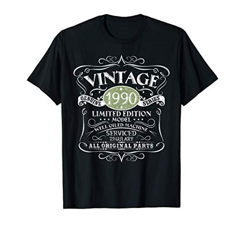 Vintage 1990 30th Birthday All Original Parts Gift Camiseta