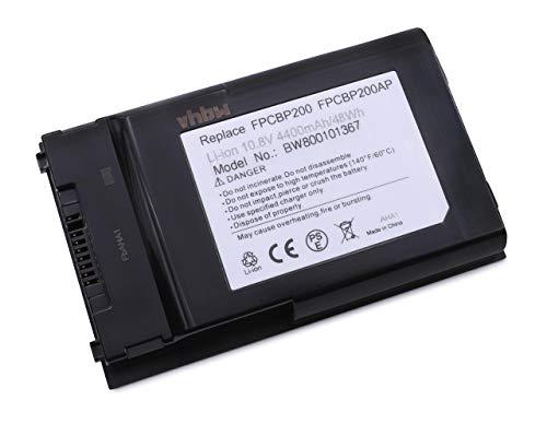 vhbw Akku passend für Fujitsu-Siemens LifeBook T1010, T1010LA, T4310, T4410 Laptop Notebook (Li-Ion, 4400mAh, 10.8V, 47.52Wh, schwarz)