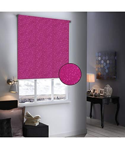 madecostore Store Enrouleur Occultant Must Paillette - 150 x 190cm - Rose