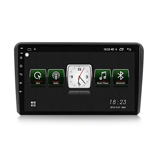 ADMLZQQ Car Radio 2 DIN Navegador GPS Android para Audi A3 2006-2012 HD Pantalla táctil con Mirror Link DSP Radio FM/Am Built-in carplay Manos Libres Bluetooth,7731,1+16G