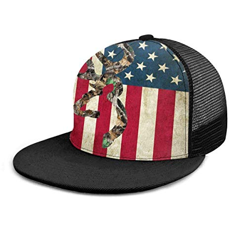 Gorra de béisbol Browning Deer Camo Bandera americana Gorras de béisbol Sombrero de camionero Verano Sol Deportes Sombreros Snapback al aire libre