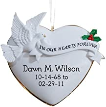 GiftsForYouNow in Our Hearts Personalized Memorial Ornament, 4