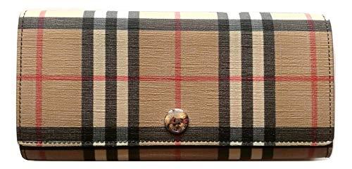 BURBERRY portafoglio donna continental HERON 80151201 vintage check e nero