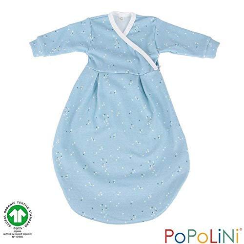 Popolini Felinchen Schlafsack Bio-Baumwolle (Splinter blau, 86/92)