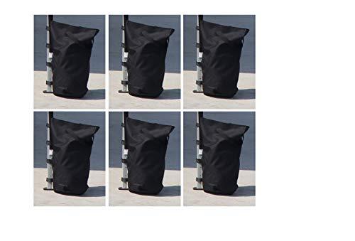 Kronenburg Pavillon Gewichte 6er Set in Schwarz – mit Sand, Splitt, Kies etc. befüllbar - Füllvolumen pro Stück ca. 13 kg – zusätzliche Standsicherung für Gartenzelt