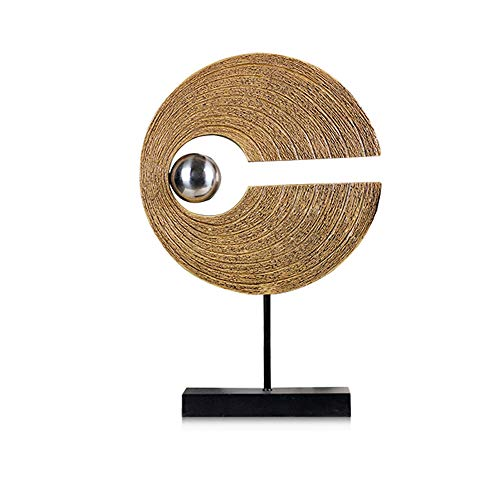 MSchunou Nordic Creative Home Feng Shui Decorative Ornaments Living Room Porch furnishings Office Interior Art Ornaments European Style (Color : Gold, Size : Small)