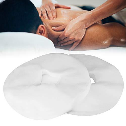 200 piezas de funda de almohada de mesa de masaje desechable, almohada de cama de mesa de masaje no tejida, almohadillas faciales de almohada, alfombrilla de agujero facial, funda de almohada de cama