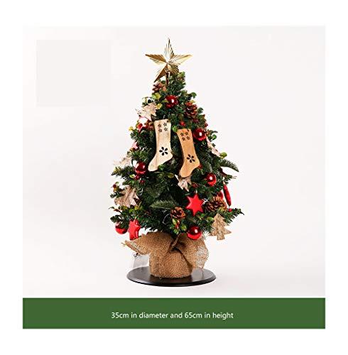 LMZ Christmas Tree Decoration Table Type Mini Christmas Tree Desktop (Color : B)