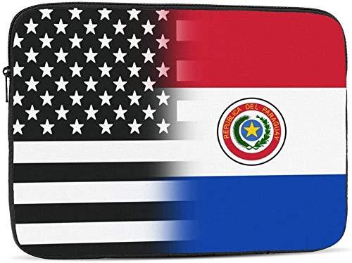 Funda para ordenador portátil de 10 a 17 pulgadas, con la bandera de Nicaragua, color blanco y negro