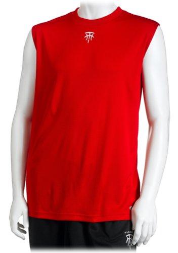 adidas T-Mac del Hombres Chaqueta sin Mangas Top, Hombre, Rojo y Blanco