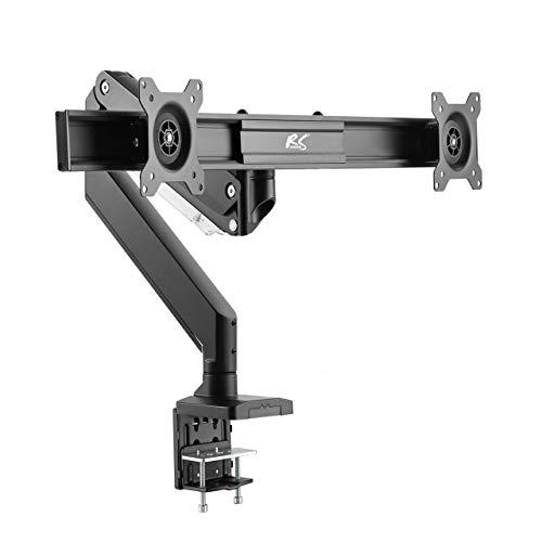 NanoRS RS115 2-Fach Gaming Monitor Tischhalterung Halterung mit Gasfeder 360° bis 16kg 17-27