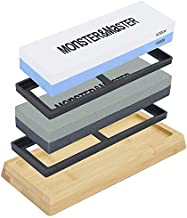 Monster & Master Knife Sharpening Stone - Combination Knife/Tool Sharpening Stone, Perfect for Kitchen, Hunting and Pocket Knives or Blades, Tools, Bits, Chisels, MM-SS0304